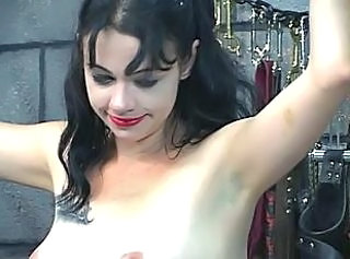 Long haired slave gets her ass spanked till it turns in flames _: bdsm brunettes contrive milfs adolescence tits lingerie