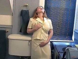 Chubby well-endowed woman playing with herself