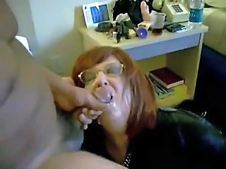 Horny spliced eating my cum. Home made