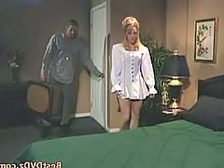Buxom Blonde Girl Gets Poked On Sofa