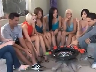 SIX 18yo gals making out 2 lucky males medial party having it away debauchery