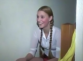 Blond teen happy beside satisfy two cocks affixing 1