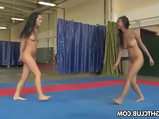 Brandy And Sheila Are Wrestling Nude And Then Get Descending On The Pussy