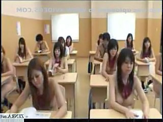 Japanese students are naked in school