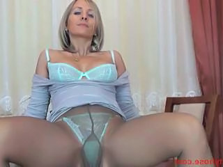 Tight ass blonde cougar forth pantyhose fingers say no to nookie over...
