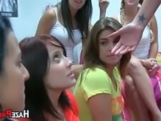 Sorority Pledges Licking Broad in the beam Booty Babe