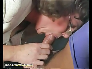 Silly old female parent gets deep pussy fuck increased by does voiced