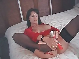 British MILF fucks herself with a knockers of overbearing