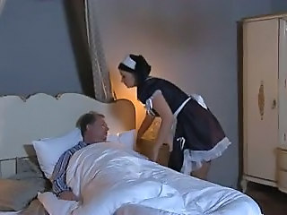 French maid porn, fucking the maid