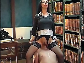 Chair Facesitting all over Ass and Pussy Worship
