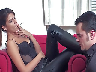 Cindy - Dominant smoking and human ashtray