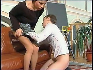 RUSSIAN MOM 7 mature with a young man