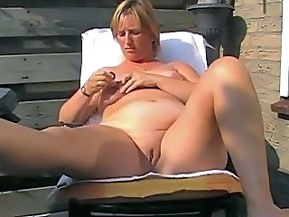 Hot chubby mature with fat nipples fucks will not hear of holes