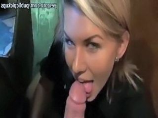 Filthy amateur blondie girl flashed boobs and banged in a catch bar
