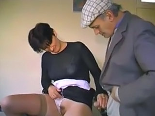 French old man Papy plus the waitress gangbang free