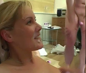 British Blonde Nicole gangbang with anal increased by DP.