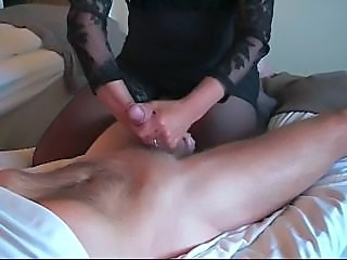 Britt giving handjob