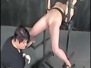 Blonde gets predestined up together with tortured at the end of one's tether their way sadistic master together with then watches
