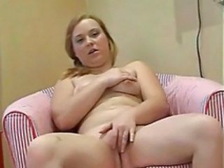 Chubby RedHead Ex Girlfriend Playing Close by Pink Vibrator