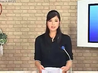 Japanese newscasters obtain their chance to shine atop bukkake tv