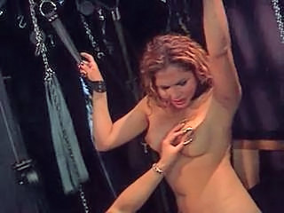 Shemale Is A Slave And Gets Abused Off out of one's mind His White Blonde Mistress