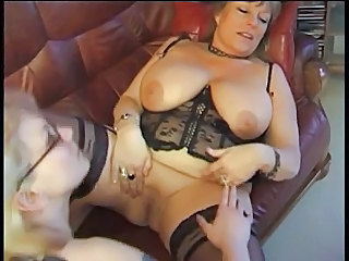 Granny Catches Simmering Maid Jilling