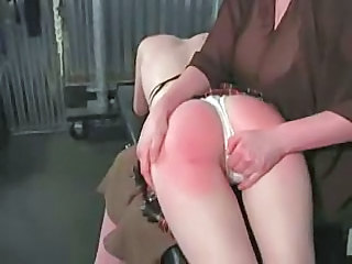 Female to young latitudinarian otk spanking red bottom lots of tears
