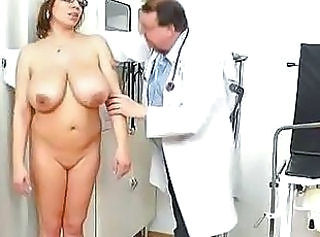 Bulky natural melon size titties at obgyn physician