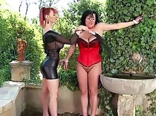 FemDom - A Brunette MILF humilated there Outdoors-Treatment