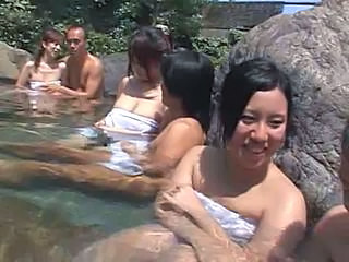Japanese Group Sex In Hot Spring