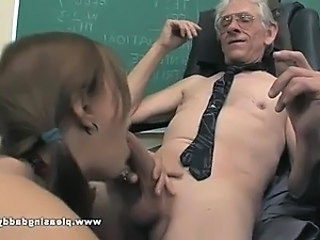 Young Battle-axe Fucks Old Teacher In all directions Pass Transmitted to Class