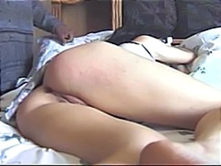 Babe is taking a catnap and two baleful dudes wake the brush up relating to a DP