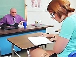 Jodi Taylor takes professors dick over the desk for passing grade