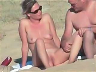 Not roundabout hot and sexy French couple on beach  Hidden cam