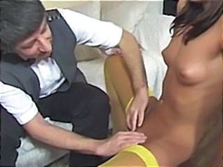 Various hotties getting it on with dirty wrinkled  ancient men