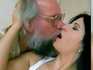 Grandpa fucks his young girlfriend