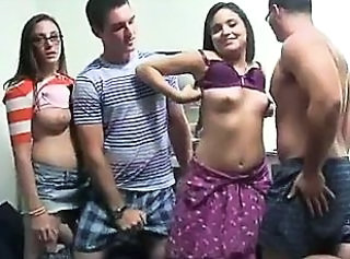 Hot babes shafting in their college tourist house