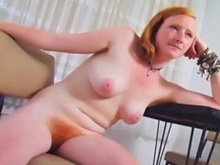 REAL REDHEAD ISADORA NICE Left-hand Gut HAIRY Left-hand RED BU...