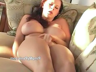 Gianna Michaels plays with pussy mainly couch