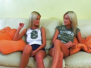 Horny twins temporize for a cock