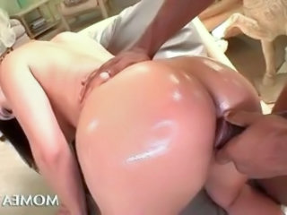Hot ass abode wife pussy nailed from behind by huge detect