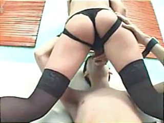 Blonde uses a strapon dildo to charge from her boyfriend in the nuisance