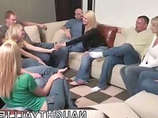 celebration game leads to a big orgy swinger wives