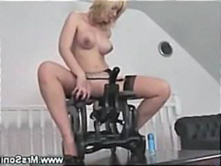 Horny mature rides first of all sex chair