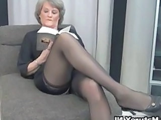 Happens. can Mature pantyhose legs