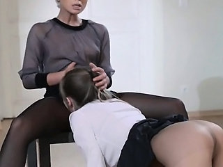 21yo schoolgirl gets fuck foreigner strap on