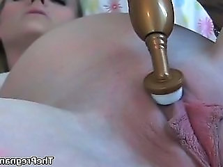 Sexy Flaxen-haired Neonate Gets Horny Masturbating
