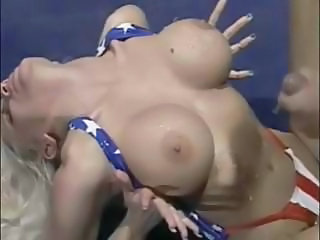Cumshot compilation wean away from Peter North well-known jizz to all these gals