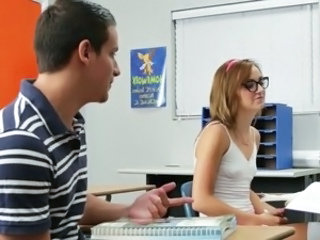 InnocentHigh Awesome sits on pecker dominant A classroom