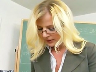 "Hot Blonde Teacher Tutors and then Rides Student In Her..."" target=""_blank"